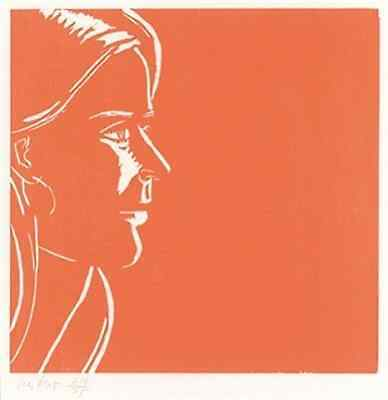 Alex Katz Pink Kim iconic signed  silkscreen  OFFER US YOUR PRINTS