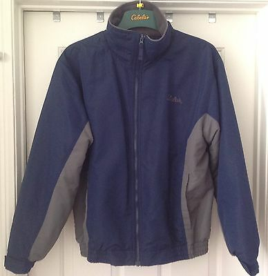 (Mens Cabela's Full Zip Up Fleece Lined Fall Spring Winter Jacket sz M Blue Gray)