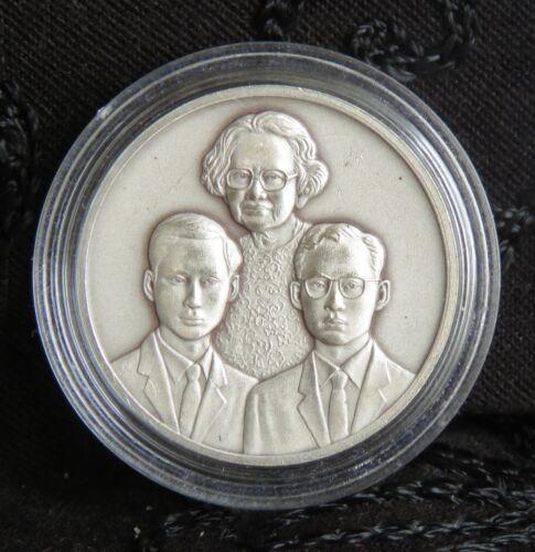 2000 King Bhumibol Adulyadej Rama 9 IX, 8 & Mother Thailand Silver Medal Thai