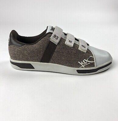 K1X KIX Club Selecao Mens Size 8.5 Strap Brown Tennis Shoes KX350263 Chocolate, used for sale  Warren