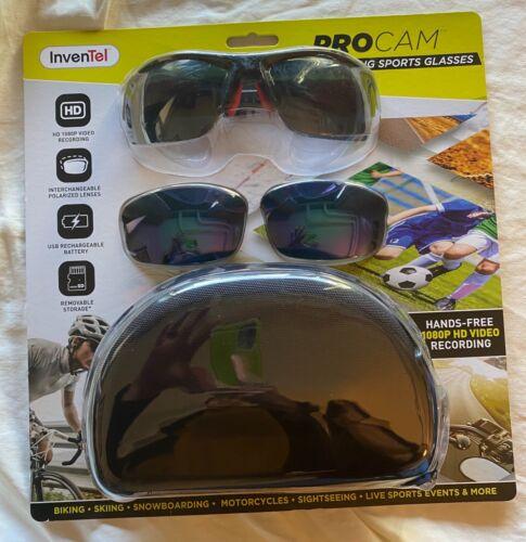 Brand New Sunglasses PROCAM Hands Free 1080P HD Sport/Nature Recording Glasses.