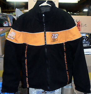 Nascar Home Depot Tony Stewart #20 Reversible Zippered Fleece Jacket (Large) NEW