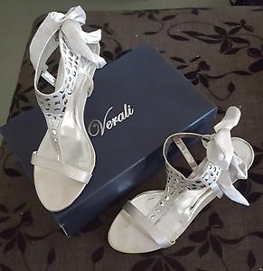 Womens High Heels - Silver Satin - Size 10 Westmead Parramatta Area Preview