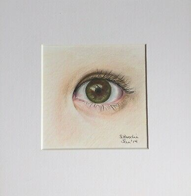 Original Artwork by Sungy Colour Drawing Of An Eye