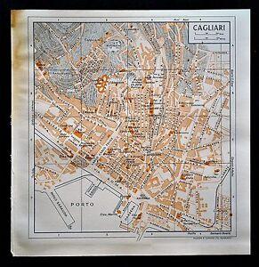 XX-Sec-Da-Guida-Russel-Muirhead-039-s-Orig-Topogr-CAGLIARI-SARDINIA-SARDEGNA-ITALIA