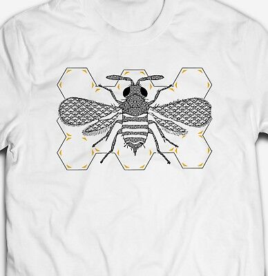 RETRO VINTAGE BUMBLE BEE INSECT NATURE ANIMAL WILDLIFE 100% cotton T-shirt - Bumble Bee Tshirt