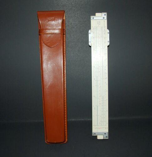 VTG Jason No. 802 Slide Rule with Brown Leather Case Made in Japan Ruler