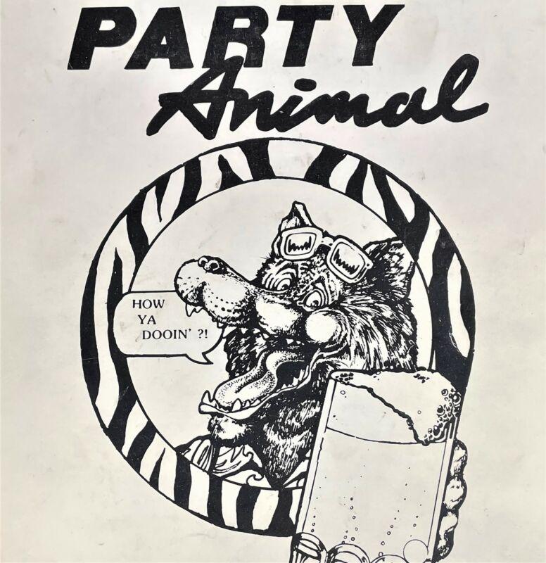 Bally Party Animal Pinball Machine Game Operating Manual & Schematics