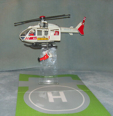 Playmobil air rescue helicopter with landing pad 4222 Complete VGC Discontinued