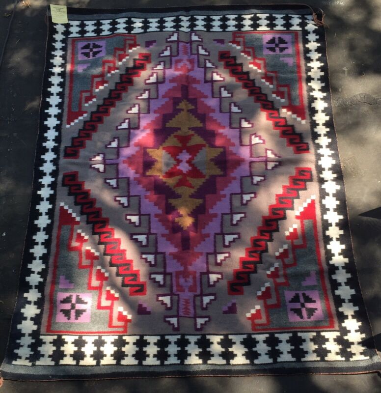 Navajo Rug By Sarah Nelson Crowpoint Rug Weavers Association New Mexico 5.6