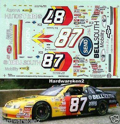 NASCAR DECAL #87 BELLSOUTH SEND 1999 BGN MONTE CARLO JOE NEMECHEK  SLIXX