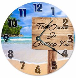 The OCEAN IS CALLING You Clock - Large 10.5 Wall Clock - 2093