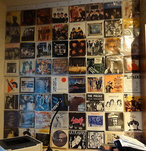 Display 64 X 7 Quot Inch Vinyl Record 45rpm Singles In Wall