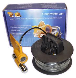 CCD Video Unterwasserkamera Tauchen Angeln Videokamera, 600TVL, LEDs 20M Kabel