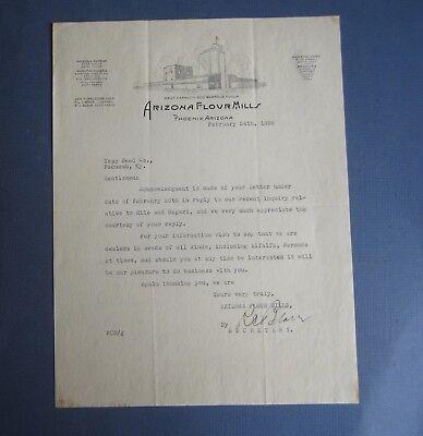 Old 1936 - ARIZONA FLOUR MILLS - Letterhead Document - PHOENIX Arizona