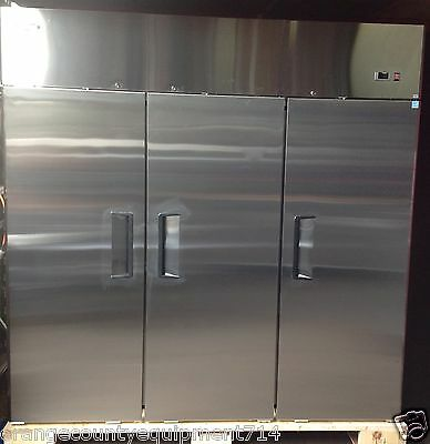 New 3 Door Reach In Freezer Nsf Atosa Mbf8003 1149 Stainless Steel Commercial