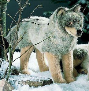 k sener 3840 wolf stehend 47 cm kuscheltier stofftier pl schtier ebay. Black Bedroom Furniture Sets. Home Design Ideas