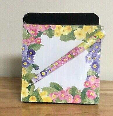 Sticky notepad with pen: floral pattern. Lady Jayne Ltd Stationery Office (Floral Notepad)