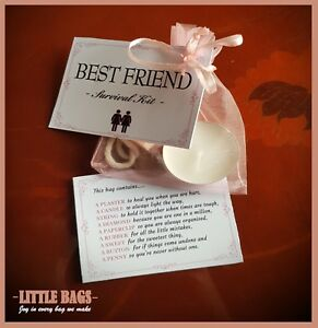 BEST FRIEND SURVIVAL KIT BIRTHDAY GIFT PRESENT THANK YOU KEEPSAKE