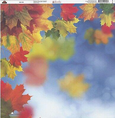 Ella &Viv - Hello Fall Scrapbooking Paper EAV-1184 Autumn Thanksgiving Leaves