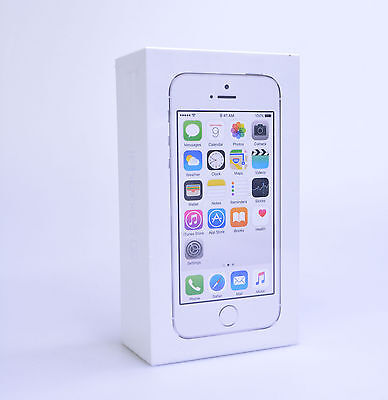 Apple iPhone 5s Smartphone Silver 16GB (Straight Talk) NEW Sealed In Packaging