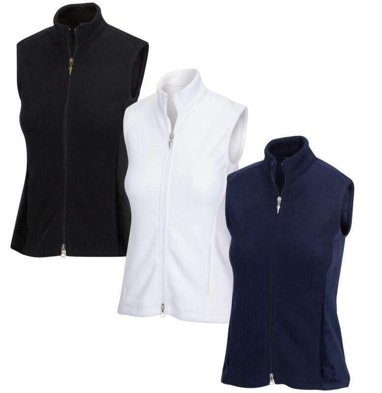 Greg Norman Womens Full Zip Fleece Velour Vest - New 2020 - Pick Color & Size