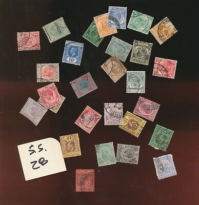 STRAITS SETTLEMENTS EARLY LOT OF 28