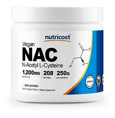 Nutricost N-Acetyl L-Cysteine (NAC) Powder, 250 Grams - Non-