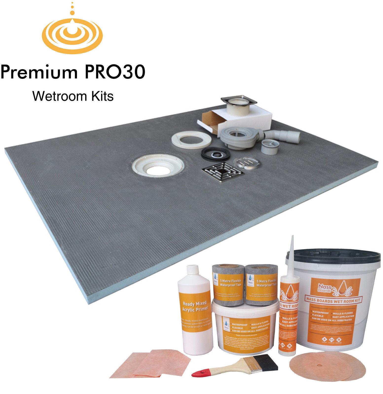 wet room wetroom shower tray kit 1200 x 900 mm walk in. Black Bedroom Furniture Sets. Home Design Ideas