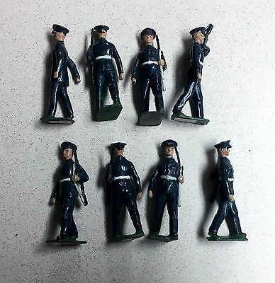 W. Britains US Air Coprs 1949 Pat. Blue Uniform 8 54mm Figurs 2044