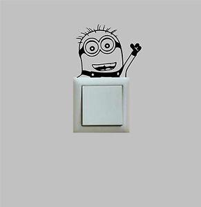 PEGATINA-STICKER-Minion-Switch-VINILO-VINYL-Wall-Decall-New-Miniom