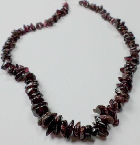 "16"" Strand Graduated Almandite Pyralmandite Purple Garnet Nugget Chip Beads 7-14"