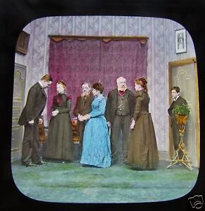 Glass-Magic-lantern-slide-HORATIO-SPARKINS-BY-DICKENS-NO-8-C1890-VICTORIAN-TALE