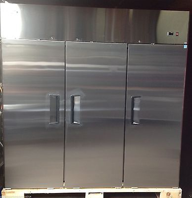 3 Door Commercial Reach In Refrigerator Cooler 2 Year Warranty Free Liftgate Del