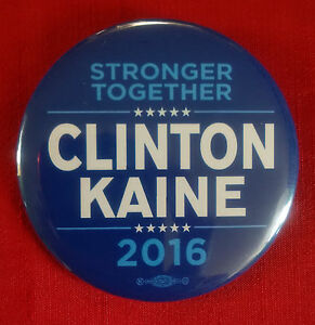 Campaign Button Hillary Clinton / Tim Kaine 2016 (# 893) - <span itemprop='availableAtOrFrom'>Wien, Österreich</span> - Campaign Button Hillary Clinton / Tim Kaine 2016 (# 893) - Wien, Österreich