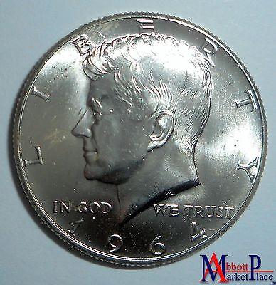 1964-D BU KENNEDY HALF DOLLAR FRESH FROM ROLL LT3057