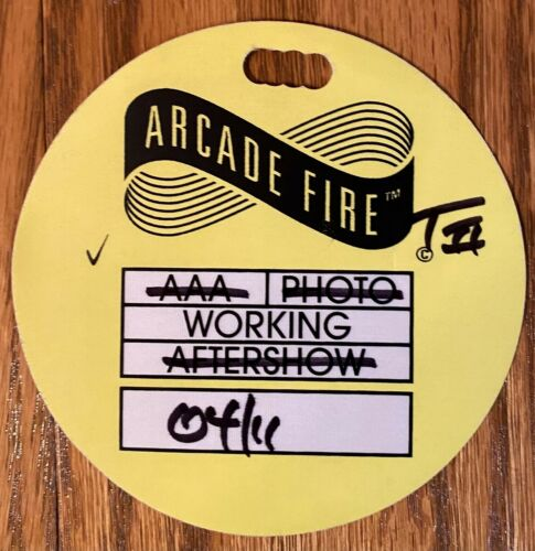 Arcade Fire Tour All Access Pass Toronto Air Canada Center LOOK selling others