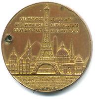 Ascension Tour Eiffel Souvenir 1889 Medaglia -  - ebay.it