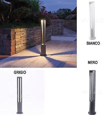 Lampada da giardino 32 led smd in acciaio luce illuminazione esterno 80 cm 18604