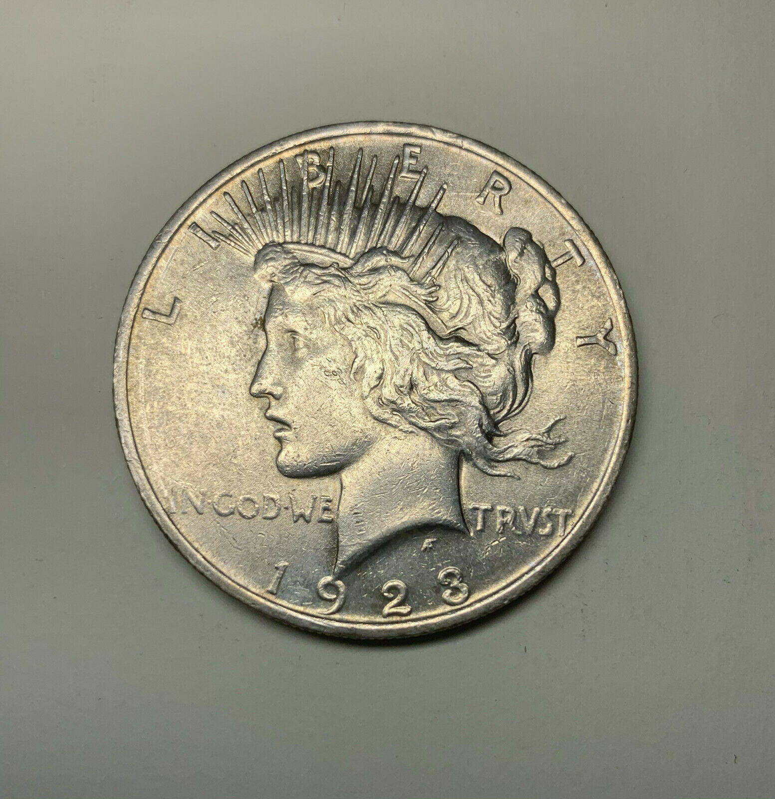 1923 1 Peace Silver Dollar Coin Unc Choice BU  - $5.00