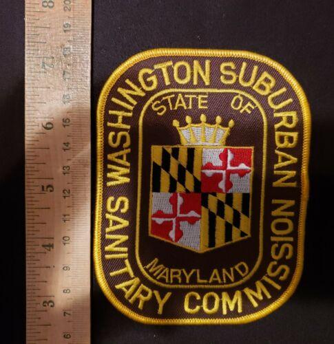 WASHINGTON SUBURBAN SANITARY COMMISSION POLICE PATCH MARYLAND MONTGOMERY WSSC MD