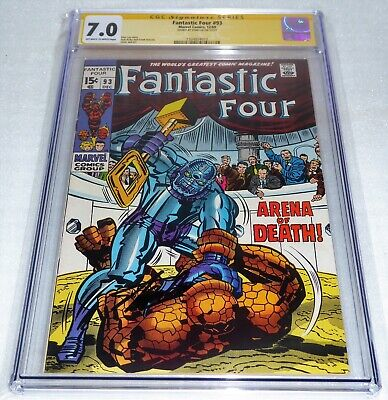 Fantastic Four #93 CGC SS Signature Autograph STAN LEE Story Arena of Death Book