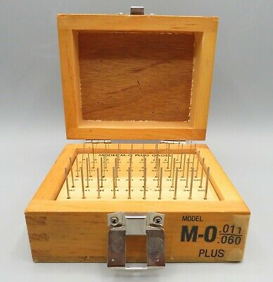 Meyer Gage M-0 Plug Wire Gauge Set .011-.060 Complete Wooden Box Machinist Tool