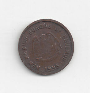 1935 New Mexico Emergency School tax token, 5 mills