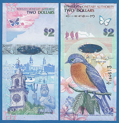 Bermuda 2 Dollars P 57 2009 UNC Low Shipping! Combine FREE!