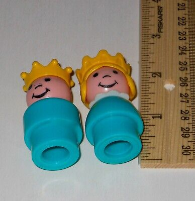 VTG Fisher Price Little People Castle #993 Replacement Princess Prince