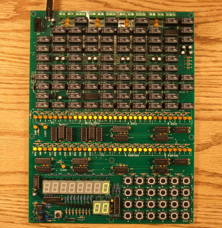 Single Board Relay Computer, Bare Board DIY Electronics Kit
