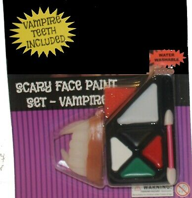 Scary Teeth Face Paint (Scary Face paint Vampire Makeup Kit with Teeth Fangs)