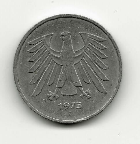 World Coins - Germany 5 Mark 1975 F Coin KM# 140.1