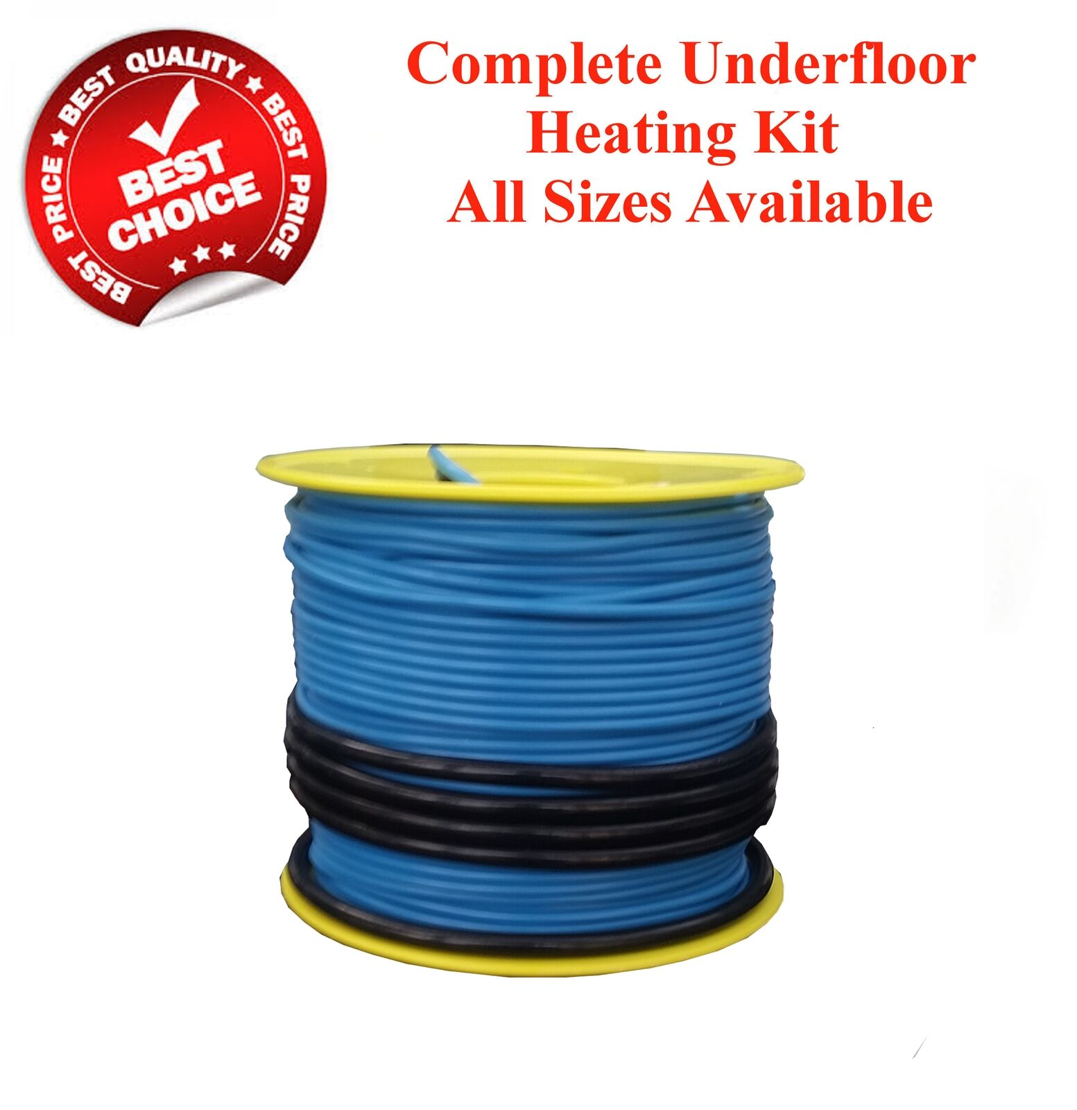 Electric underfloor heating loose cable kit all sizes in this ...